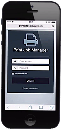 Web-to-print job management software